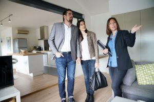 real estate agent and client