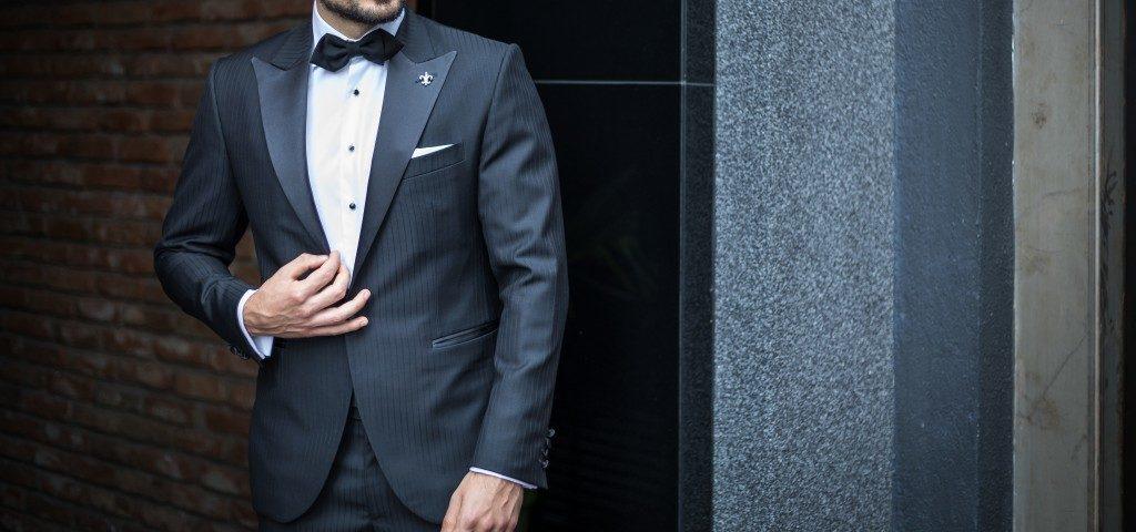 Man wearing bespoke suit