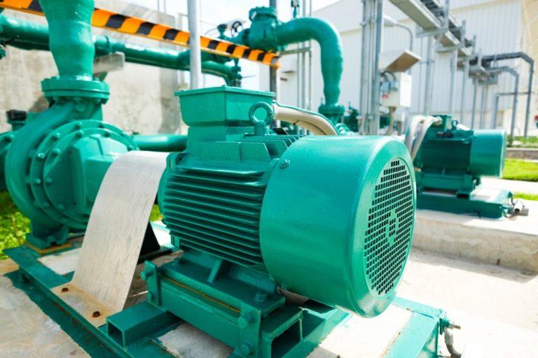 pump inside a factory
