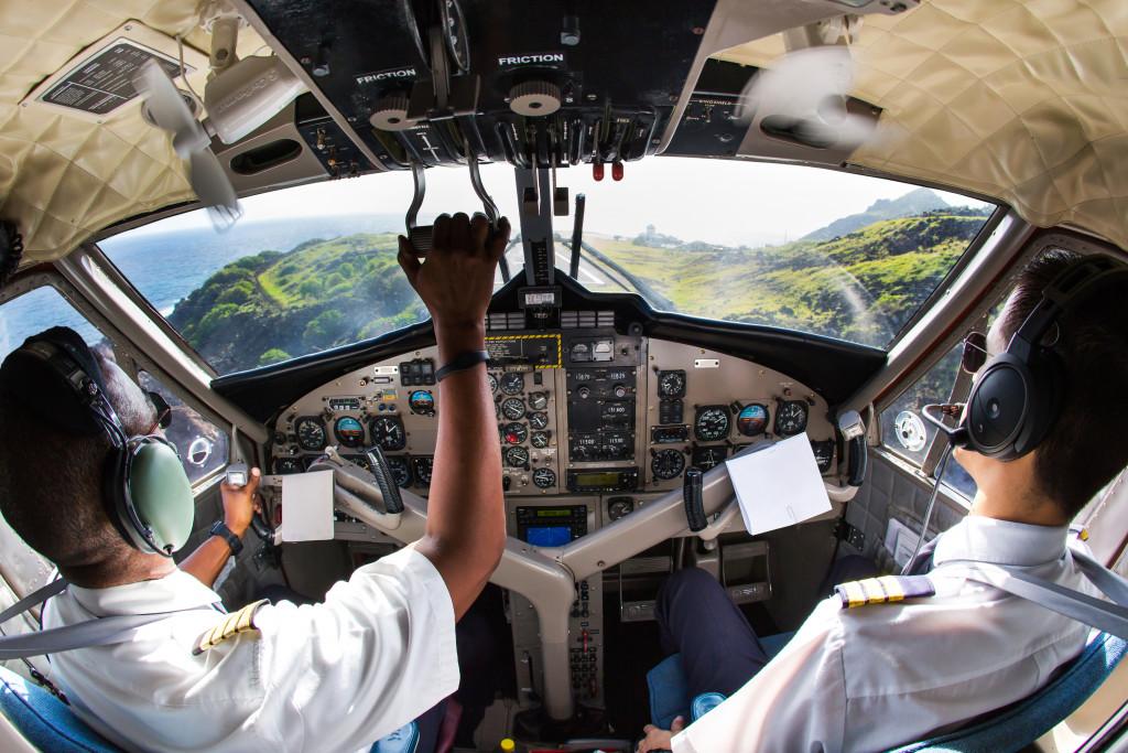 Pilots in a plane
