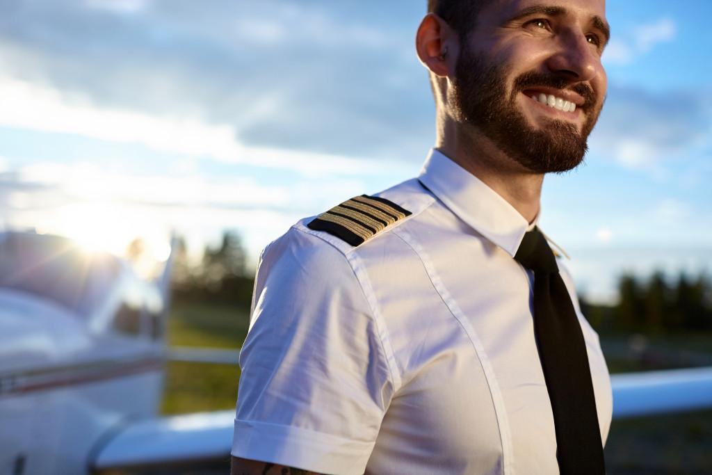 A male pilot