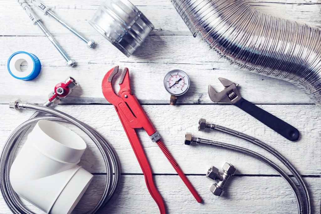 plumbing tools and materials