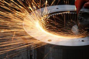 metal being polished