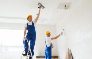 contractors renovating a home