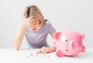 having a financial crisis