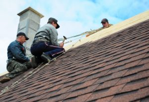 setting up roof