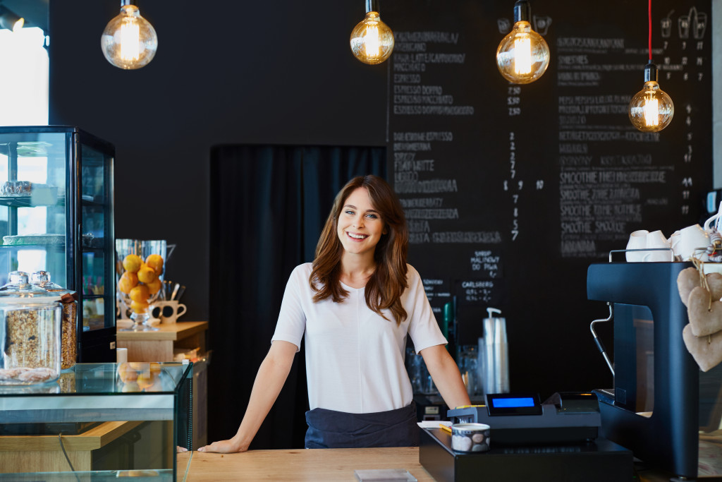Female cafe owner