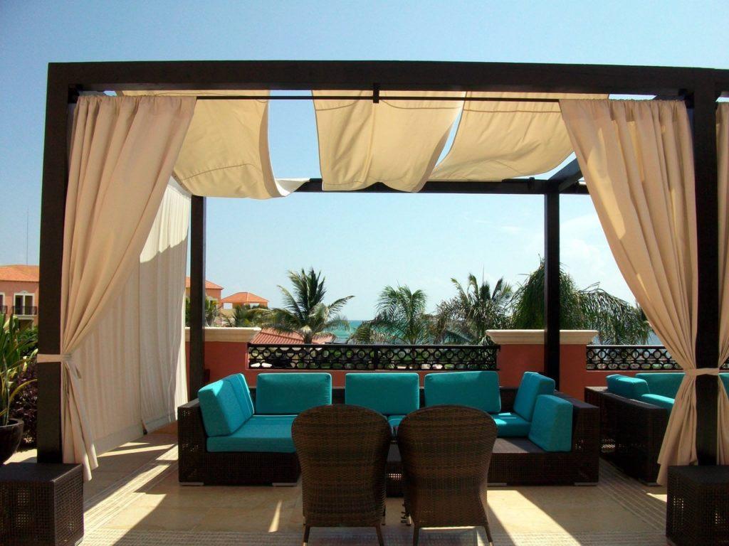 a patio under the sun