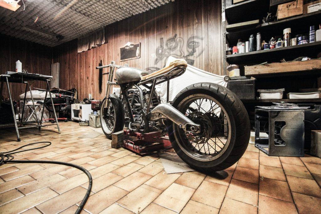 garage motorcycle workshop