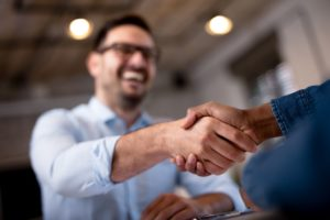 business owner doing partnerships